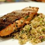 Quinoa-salade met zalm